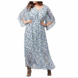 Lane Bryant Boho Maxi Dress, Size 26/28